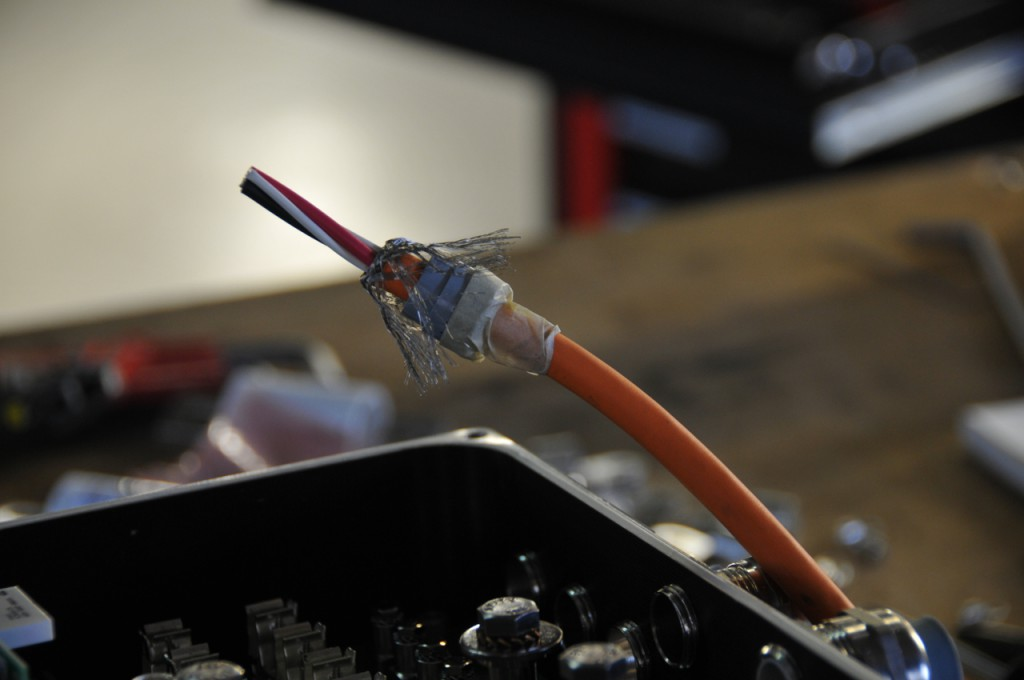 Preparation of EMI-shielded cable