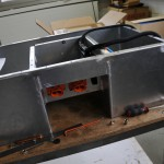Front view of third battery box